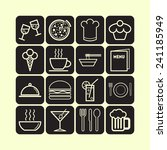 set of simple icons for bar ... | Shutterstock .eps vector #241185949