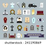death  ritual and burial... | Shutterstock .eps vector #241190869