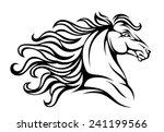 Stock vector horse head 241199566