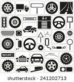 black icons on white background ... | Shutterstock .eps vector #241202713