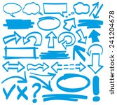 hand drawn highlighter elements ... | Shutterstock .eps vector #241204678
