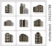 set of dimensional buildings... | Shutterstock .eps vector #241211788