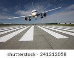 Landing Aircraft Low Over The...