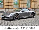 Small photo of DRESDEN, GERMANY, DECEMBER 12, 2014: Porsche 911 Carrera 4S