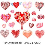 Vector Hearts And Roses