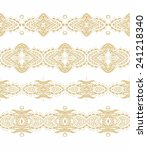 set of decorative ornamental... | Shutterstock .eps vector #241218340