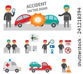 car crash and accident on the... | Shutterstock .eps vector #241218394