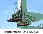 floating cargo crane over blue... | Shutterstock . vector #241237468