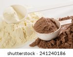 close up of protein powder and... | Shutterstock . vector #241240186