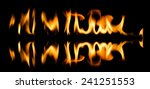 fire abstract and flames shapes ... | Shutterstock . vector #241251553