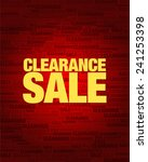 clearance sale text on red... | Shutterstock .eps vector #241253398