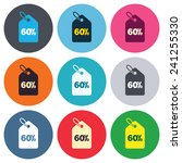 60  sale price tag sign icon.... | Shutterstock .eps vector #241255330