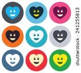 smile heart face sign icon.... | Shutterstock .eps vector #241255813
