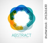 symmetric abstract geometric... | Shutterstock . vector #241261630