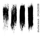 vector set of grunge brush... | Shutterstock .eps vector #241262038