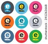 electric car sign icon. sedan... | Shutterstock .eps vector #241262668