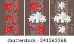 decorative seamless borders... | Shutterstock .eps vector #241263268
