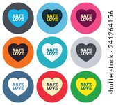 safe love sign icon. safe sex... | Shutterstock .eps vector #241264156