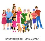 big family   Shutterstock .eps vector #24126964