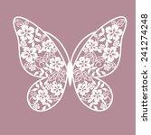 butterfly from flowers | Shutterstock .eps vector #241274248