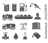 oil and petroleum icon set | Shutterstock . vector #241275079