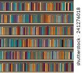 background of library book shelf | Shutterstock . vector #241276018