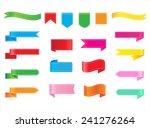 ribbon set.vector design... | Shutterstock .eps vector #241276264