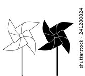 pinwheel outline and silhouette ... | Shutterstock .eps vector #241280824