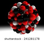 molecule 3d illustration | Shutterstock . vector #241281178