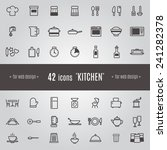 icons kitchen | Shutterstock .eps vector #241282378