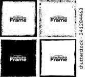 grunge frame set texture  ... | Shutterstock .eps vector #241284463