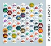 flat design  berries   Shutterstock .eps vector #241292479
