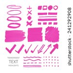 vector collection of... | Shutterstock .eps vector #241292908