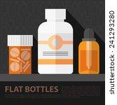 vector flat tablet bottles set. ... | Shutterstock .eps vector #241293280