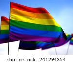 flags lgbt hovering in the wind | Shutterstock . vector #241294354