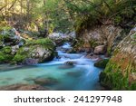 mountain stream in the lepena... | Shutterstock . vector #241297948