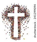 people finding christianity ... | Shutterstock . vector #241299094