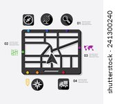 navigation infographic | Shutterstock .eps vector #241300240