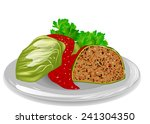 cabbage roll | Shutterstock .eps vector #241304350