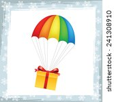 gift on parachute icon   Shutterstock .eps vector #241308910