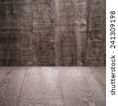 wood background   table with... | Shutterstock . vector #241309198