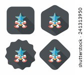 christmas star flat icon with...   Shutterstock .eps vector #241313950