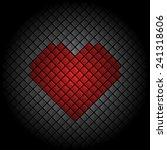 valentines day heart tile... | Shutterstock .eps vector #241318606