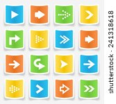 colorful square arrow sticker... | Shutterstock .eps vector #241318618
