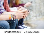 teenagers text messaging | Shutterstock . vector #241322038