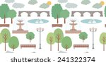 pattern with park | Shutterstock .eps vector #241322374