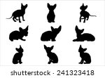 vector silhouettes of sphynx... | Shutterstock .eps vector #241323418