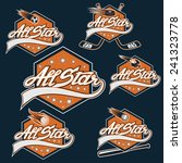 set of vintage sports all star... | Shutterstock .eps vector #241323778