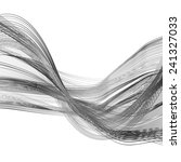 abstract black line grey wave... | Shutterstock . vector #241327033