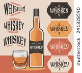 retro collection of whiskey... | Shutterstock .eps vector #241328590